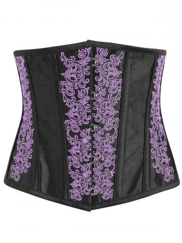 Buy Lace-up Embroidered Corset