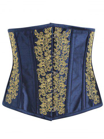 Fancy Lace-up Embroidered Corset
