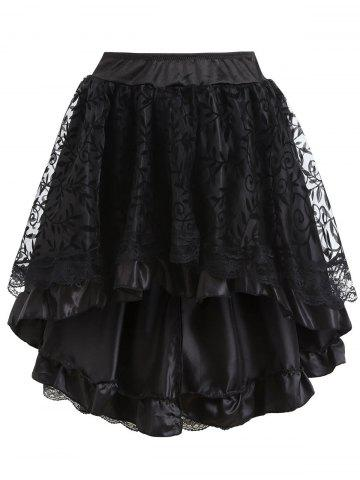 Unique Asymmetric Flounce Party Cosplay Skirt