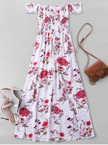 Outfits Off The Shoulder Floral Maxi Dress