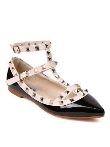 Discount Rivets Ankle Wrap Flats