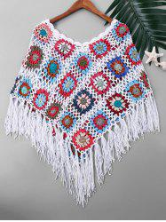 Crochet Tassel Cape Cover Up -