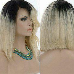 Short Side Part Colormix Straight Bob Synthetic Wig -