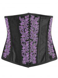 Lace-up Embroidered Corset -