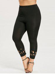 Plus Size Openwork Leggings -