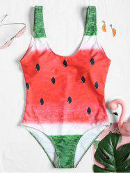 Padded One Piece Fruits Swimsuit -