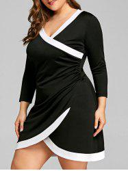 Color Trim Plus Size Tulip Dress -