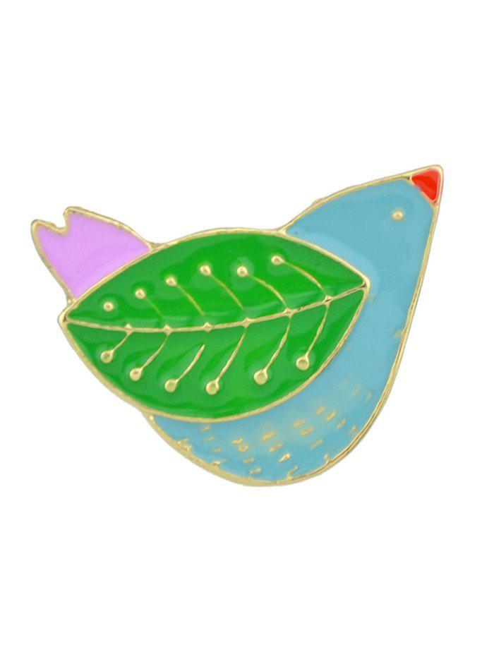 Discount Alloy Little Bird with Leaf Wings Cute Brooch