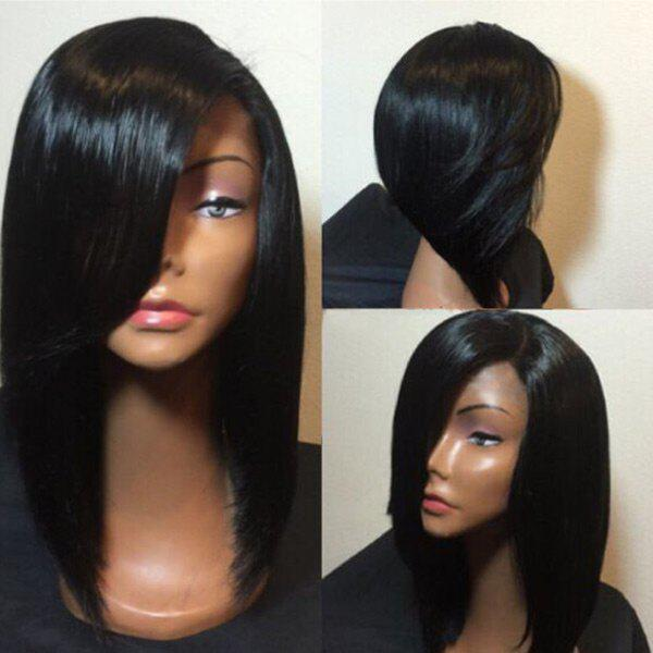 Unique Medium Side Parting Straight Bob Synthetic Wig