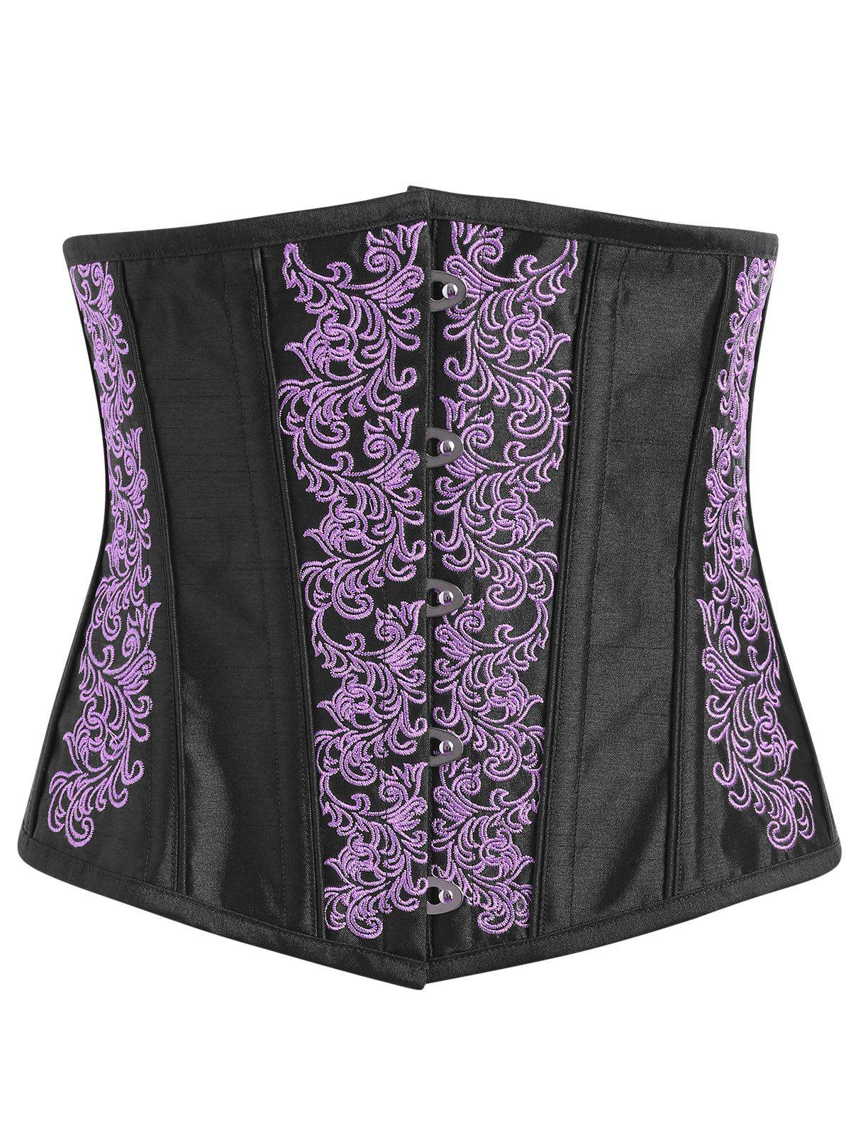 Online Lace-up Embroidered Corset