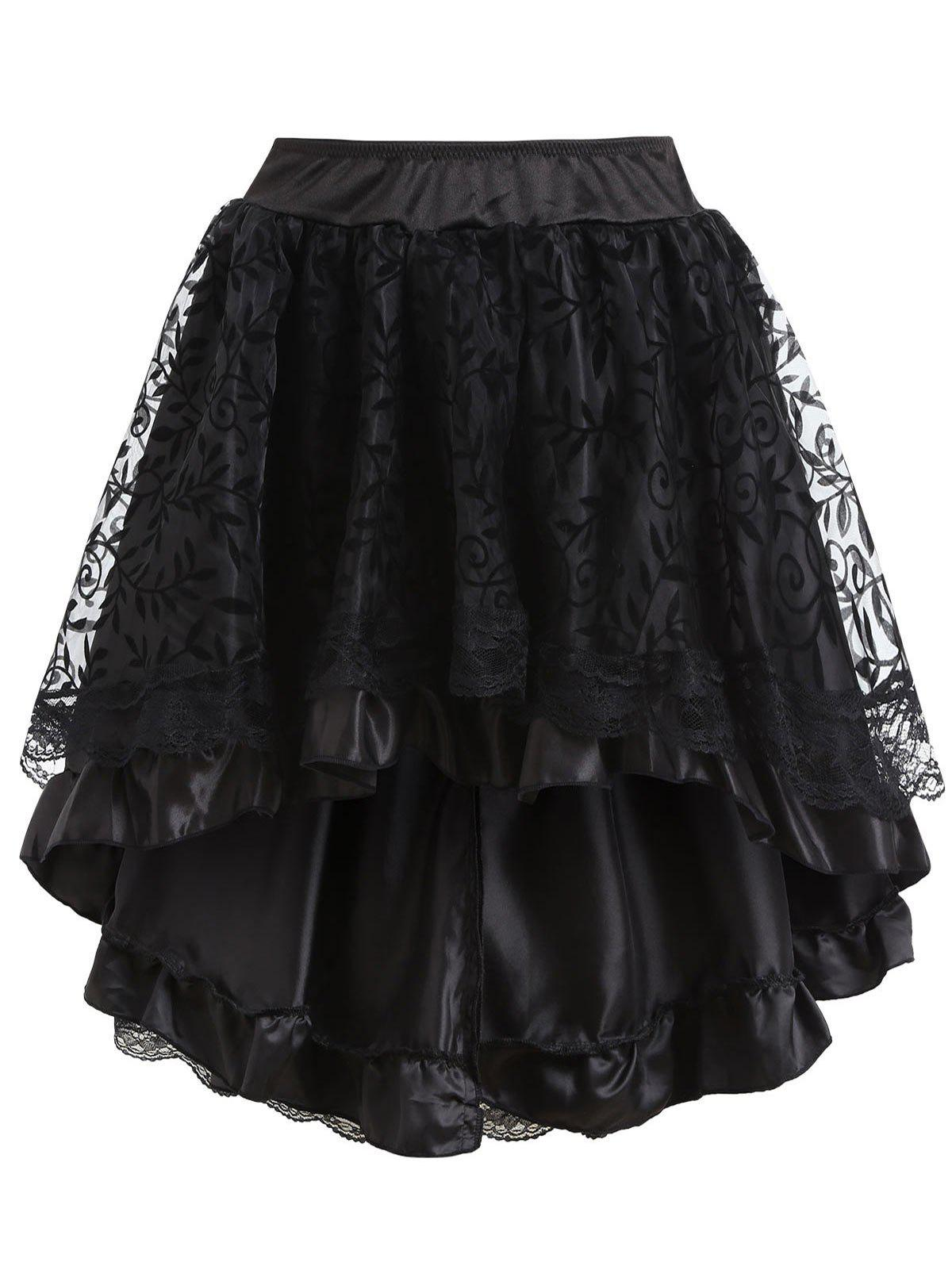 Sale Asymmetric Flounce Party Cosplay Skirt