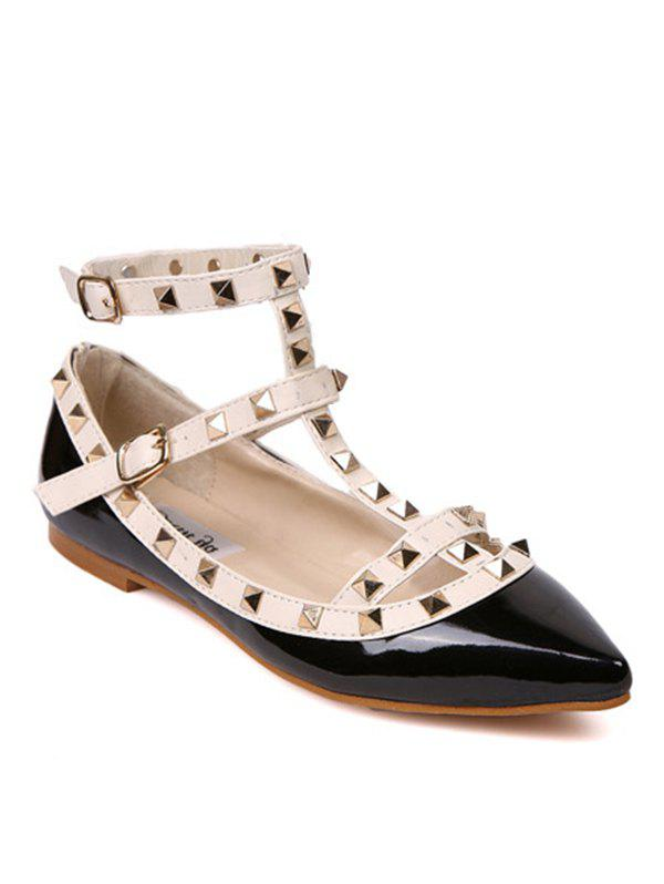 Sale Rivets Ankle Wrap Flats