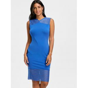 Mesh Panel Bodycon Dress -