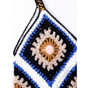 Crochet Knit Sleeveless Cover Up Top -
