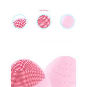 Waterproof Silicone Sonic Face Cleanser Device with Pulse Massage Brush -
