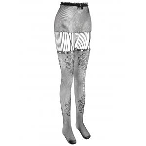 High Waisted Fishnet Tights -