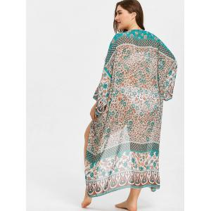 Plus Size Cover Up Tribal Kimono -