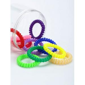 Tortile Plastic Elastic Hair Bands Set -