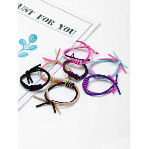 Multilevel Circles Embellished Elastic Hair Bands Set -
