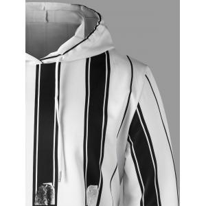 Two Tone Drawstring Neck Hoodie -