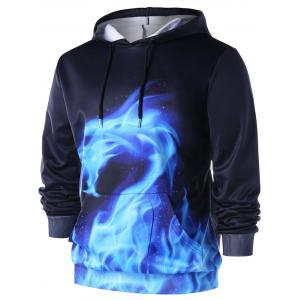 Flaming Dragon Drawstring Neck Hoodie -