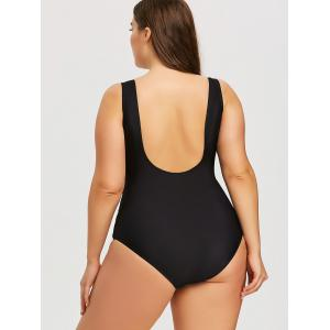 Open Back Plus Size Slimming Swimwear -