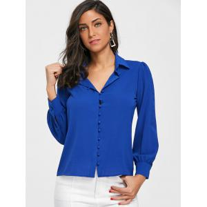 Long Sleeve Buttoned Office Shirt -
