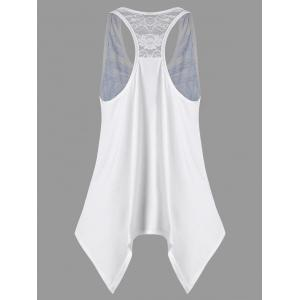 Handkerchief Feather Print Racerback Tank Top -