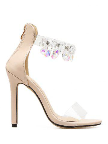 Outfit Rhinestone Embellished Lucid Strap Sandals