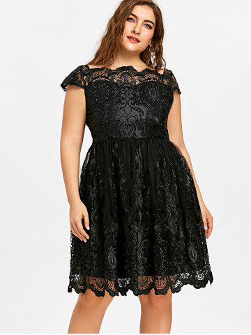 Black Scalloped Dress Free Shipping Discount And Cheap Sale