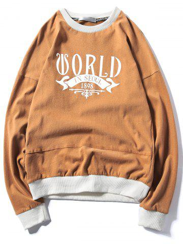 Affordable Graphic Print Panel Pullover Sweatshirt