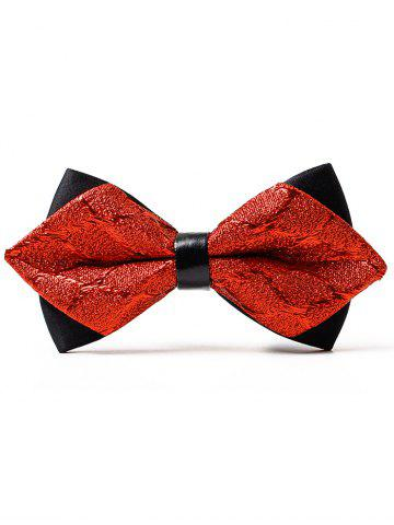 Chic Vintage Jacquard Weave Pattern Shimmer Bowtie
