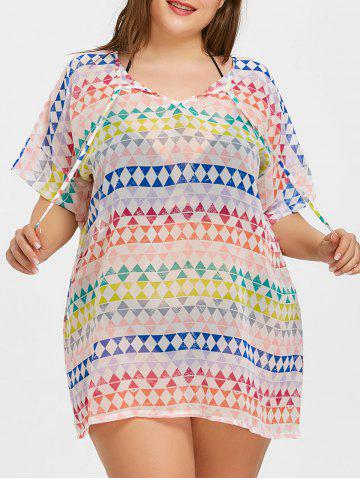 Chic Plus Size Beach Chiffon Cover Up