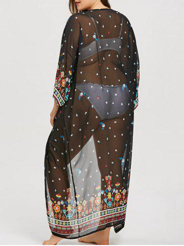 New Plus Size Printed Longline Cover Up
