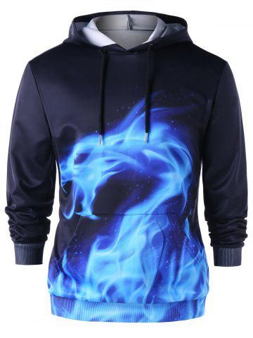 Fancy Flaming Dragon Drawstring Neck Hoodie