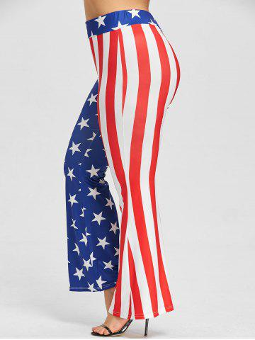 Cheap Plus Size Patriotic American Flag Pants
