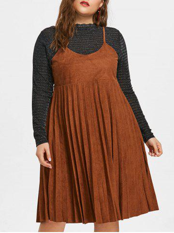 Shop Plus Size Lace Insert Dress