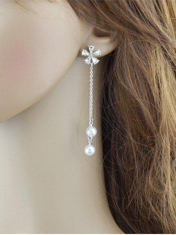 product gold earrings drop charm fashion index dangle ladies jewelry women pearl chain long gift