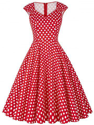 Shops Polka Dot Cap Sleeve Party Dress