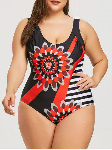 Sale Open Back Plus Size Slimming Swimwear