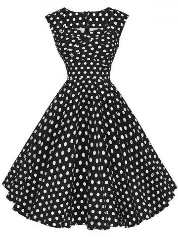 Best Polka Dot Sleeveless Party Dress