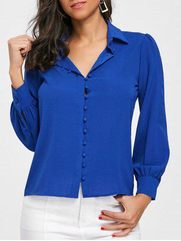 Trendy Long Sleeve Buttoned Office Shirt