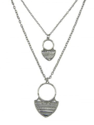 Silver alloy engraved iron plate circle pendant necklace set fashion alloy engraved iron plate circle pendant necklace set aloadofball Gallery