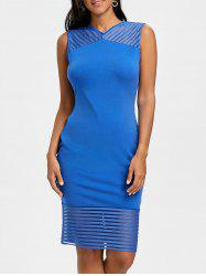 Mesh Panel Party Bodycon Dress -