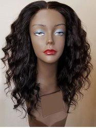 Long Center Parting Shaggy Water Wave Synthetic Wig -