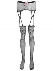 Fishnet Crotchless Suspender Tights -