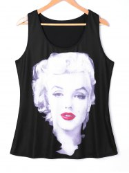 Plus Size Marilyn Monroe Racer Back Tank Top -
