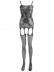 Fishnet Cut Out Open Crotch Bodystockings -