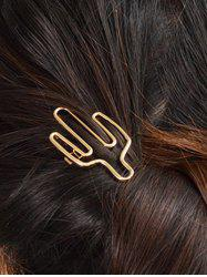 Metal Cereus Decorated Hollowed Hairclip -