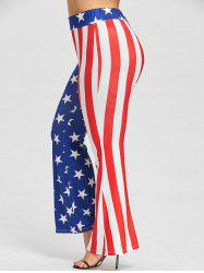 Plus Size Patriotic American Flag Pants -